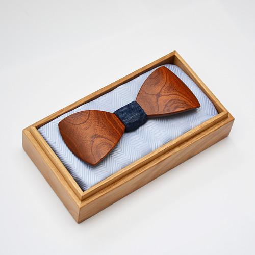 Dřevěný motýlek HARMONY STANDARD - mahagon