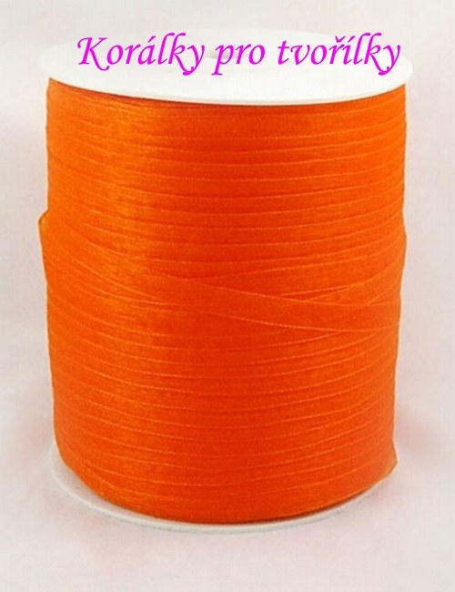 Organza - stuha oranžová 1m/3,- kč