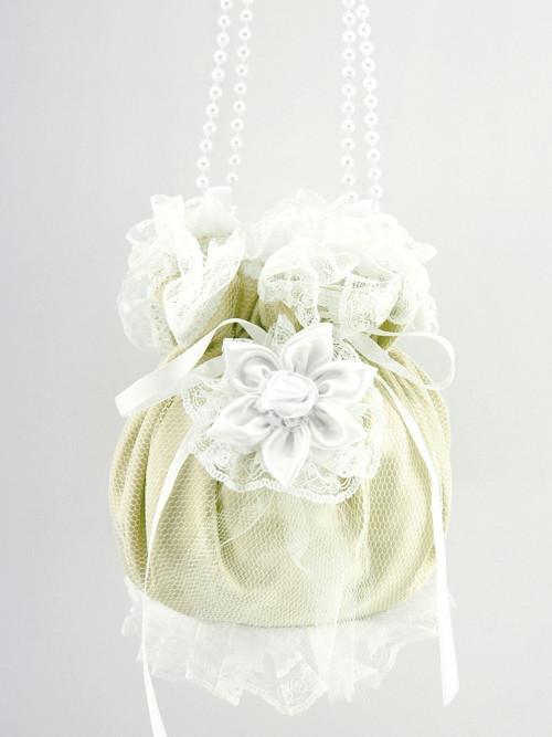 Pomparůrka ivory, kabelka  pro nevěstu S5
