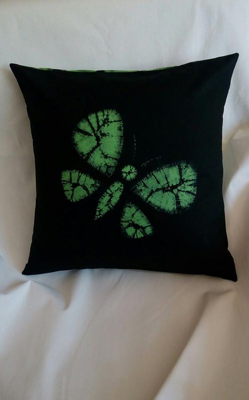 Batikovaný povlak na polštář zelený
