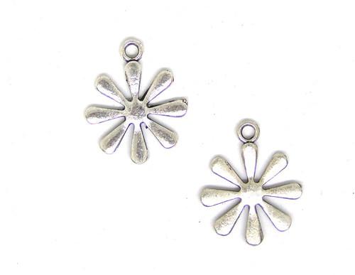 Přívěsek kovový květina, 2 ks