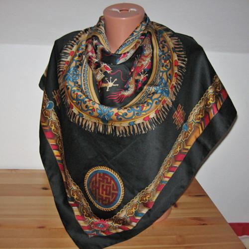 Šátek s draky  11838