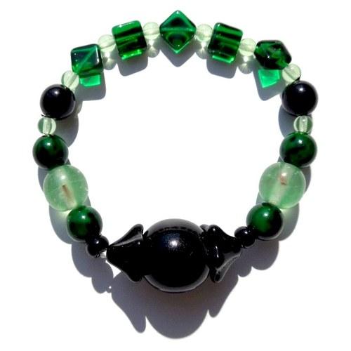 Náramek zelenočerný elegantní