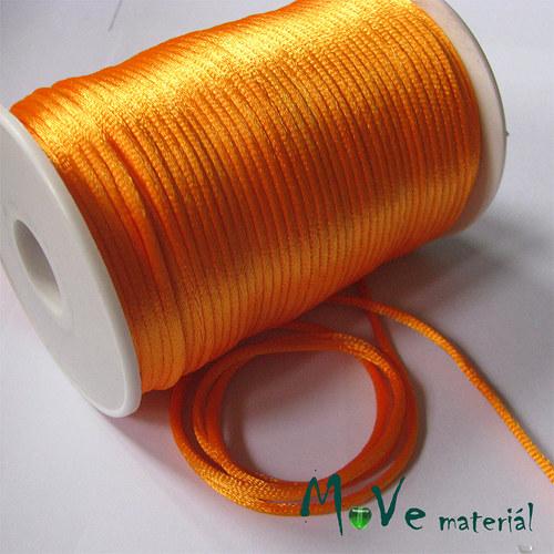 Šňůra Ø2mm saténová, sv. oranžová, 1m