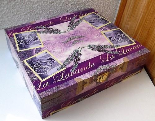 velká levandulová krabička na 12 přihrádek
