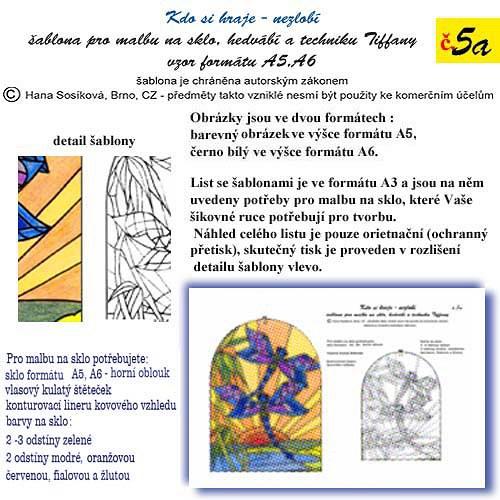 šablona č.5a  Vážky A6,A5    50/200