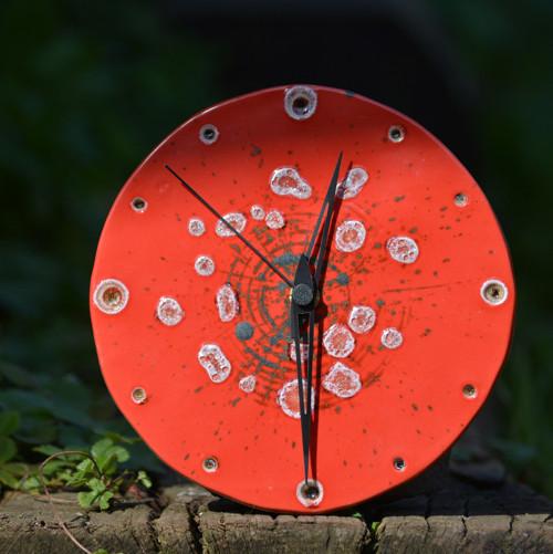 Keramické hodiny Kruh střední - Ohnivý rej