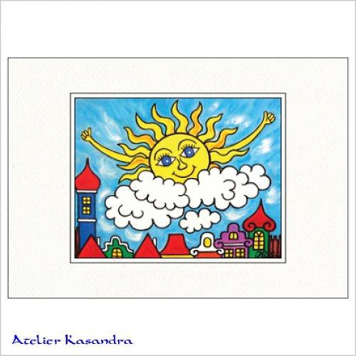 Pasparta A4 - Sluníčko vstává