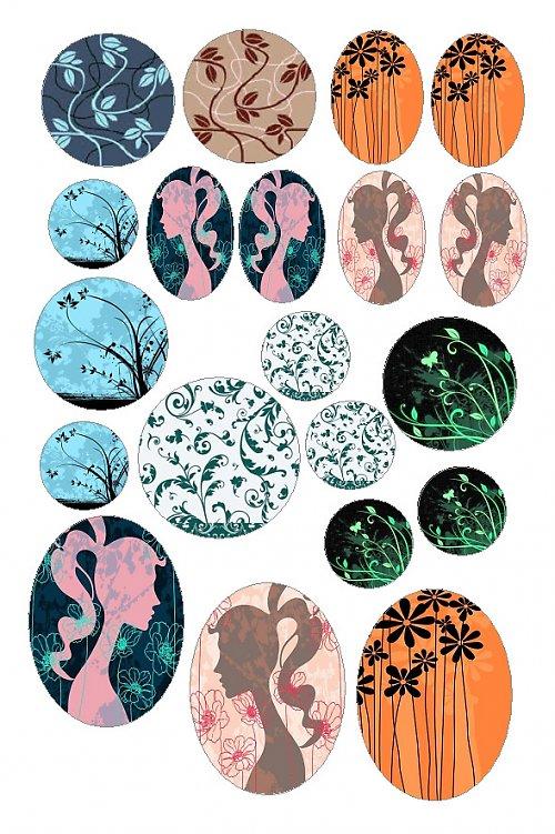 ornamenty s květy 03