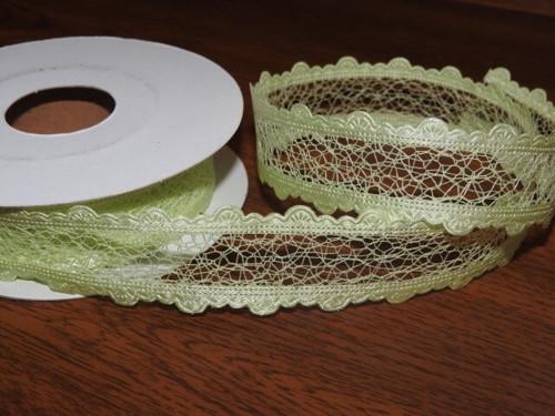 Stuha pavučinka šíře 25 mm zelinkavá