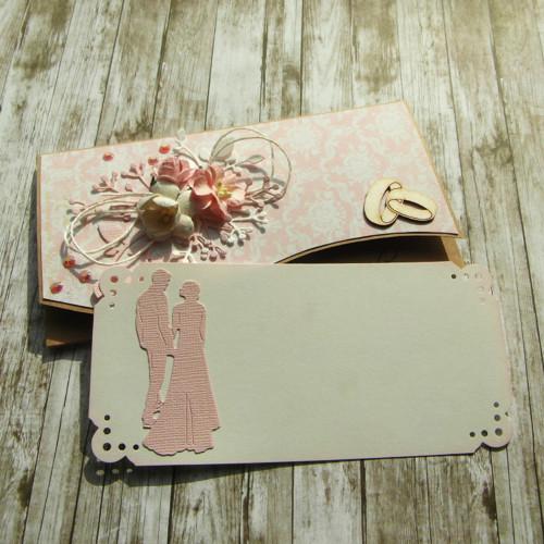 Darovací obálka s věnovací kartičkou svatební 2
