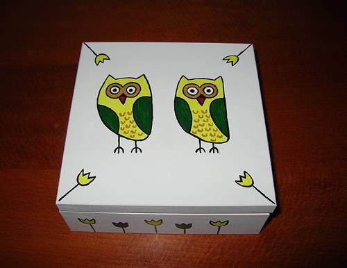 Krabička na poklady se sovičkami