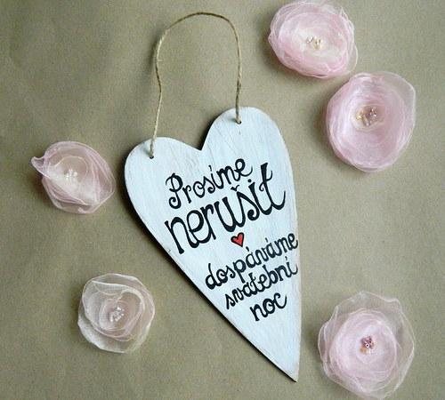závěsné srdce SVATEBNÍ NOC - velké