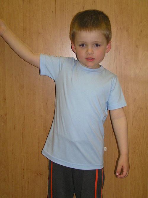 Tričko jednobarevné s krátkým rukávem v.86-104