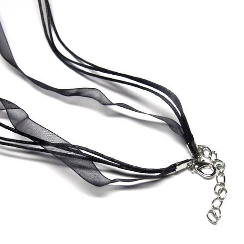 Návleková šňůrka - černá