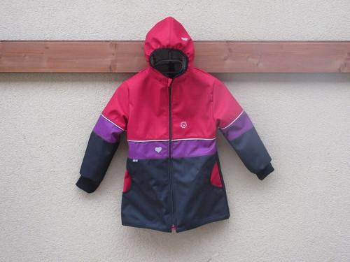 Softshellový kabátek - rub úplet vel.98/104