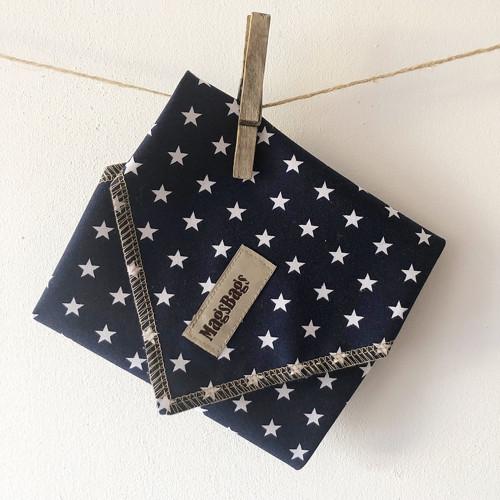 Funkční svačinový EKO ubrousek - modrý s hvězdami