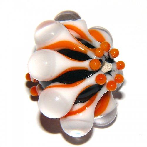 Vinutá perle - EXKLUZIV - černá + oranžová