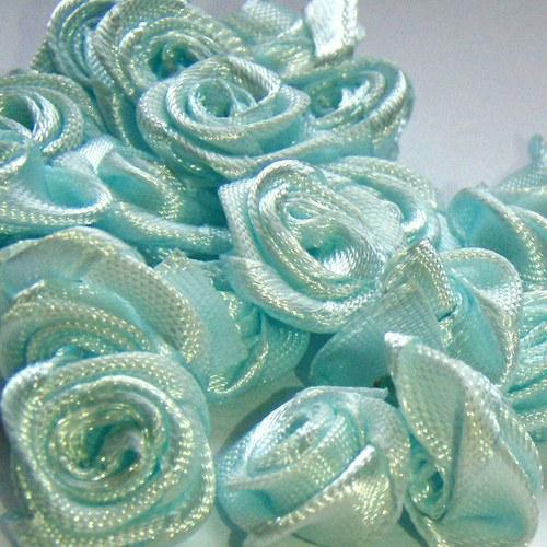 dekorační růžička modrá 10ks