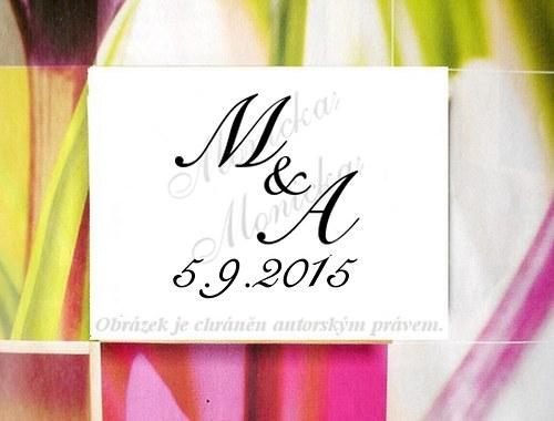 Svatební s iniciály s datem větší... Omyvatelné.