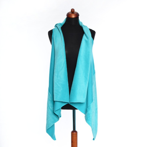 Dámska vesta tyrkysová