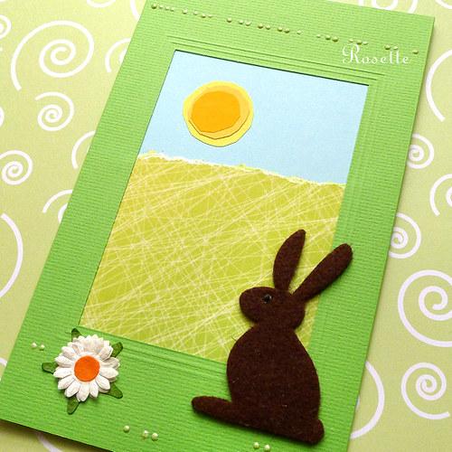 Zajíček vyhlíží jaro -  přání