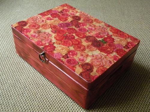 Velká krabice truhla - Vůně růží