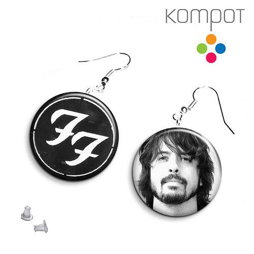 Naušničky Foo Fighters - 2 páry :: na přání