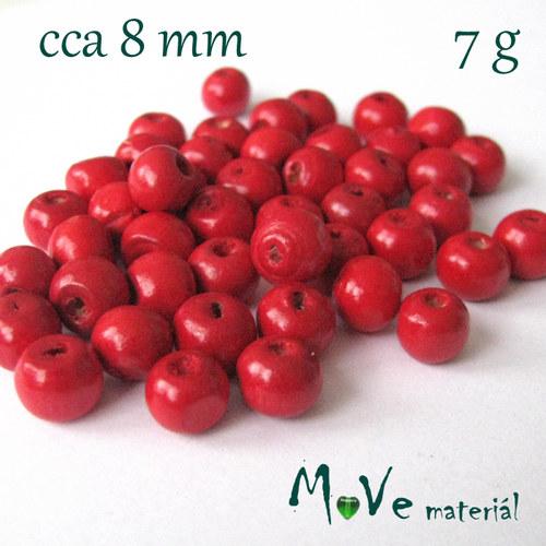 Dřevěný korálek 8mm, 7g, červený