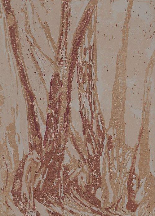 SLEVA!!Eukalypty, Portugalsko- pětibarevný linoryt
