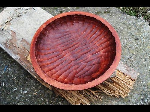 Dřevěná miska-tmavý mahagon