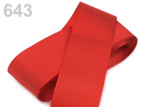Taftová stuha 52mm (10m) - červená šarlatová