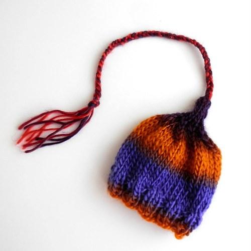 Pletená čepička elfík indiánek