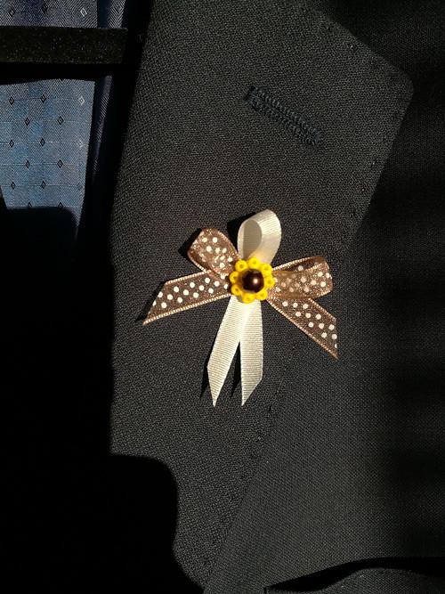 Svatební vývazek slunečnicový 2