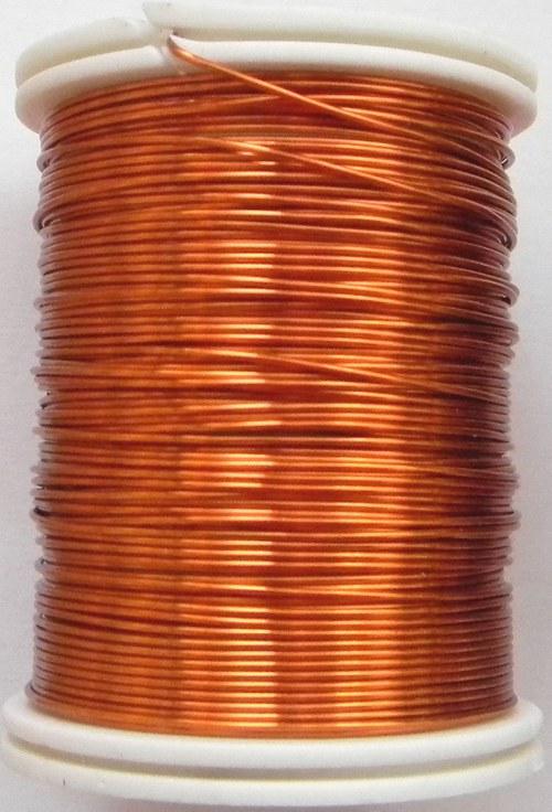 Měděný lakovaný drát 0,3 mm oranžový