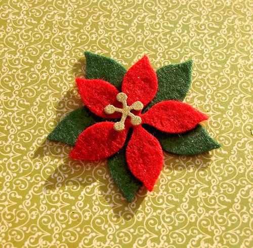 Vrstvená vánoční hvězda z filcu (velká)