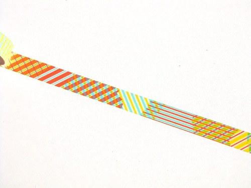 Páska: Barevné linky (1,5 x 33 cm)