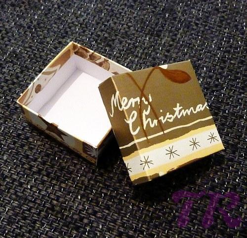 Vánoční dárková krabička