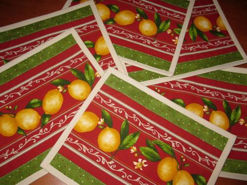 Prostírání - citróny (6ks)