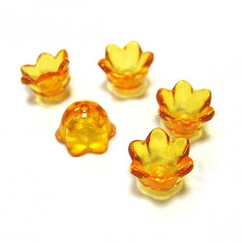 Květinka - oranžová - 4 ks