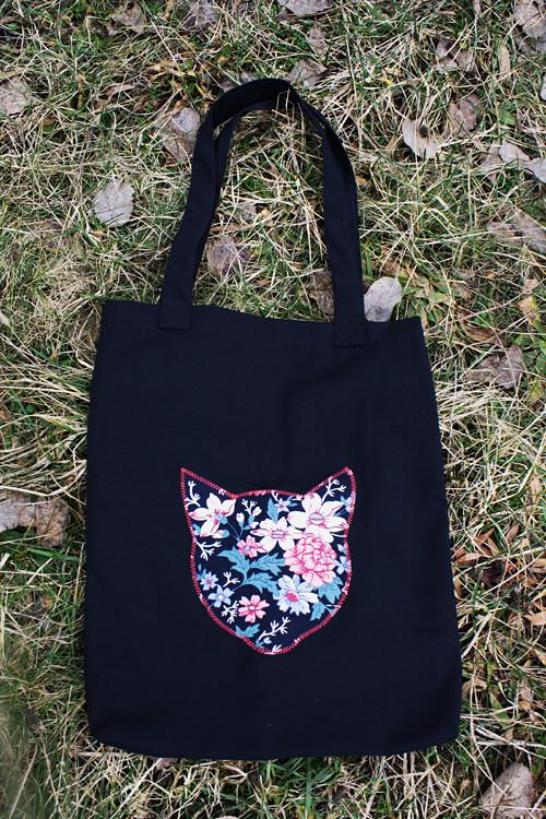 Plátěná taška Kočka