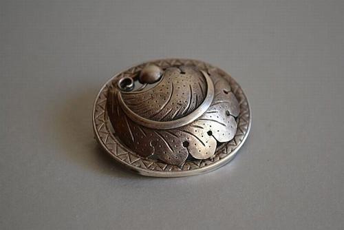 Markýza - brož, stříbro