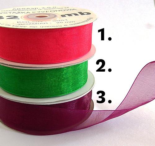 Monofilová stuha,š. 9 mm, odstíny mix, 5 m