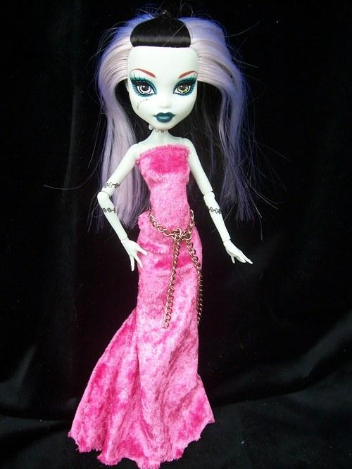 Pro Monster High růžový samet