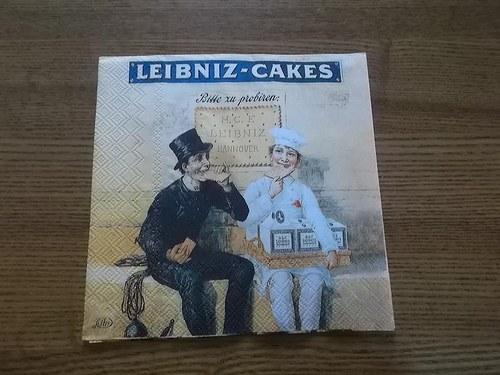 Ubrousek na decoupage - sušenky Leibniz