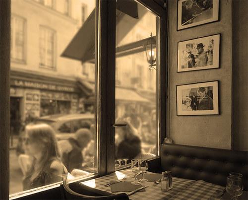 Paříž - kavárna
