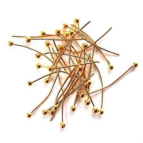 Hřebík s Kuličkou 2cm - 50ks - Zlatý