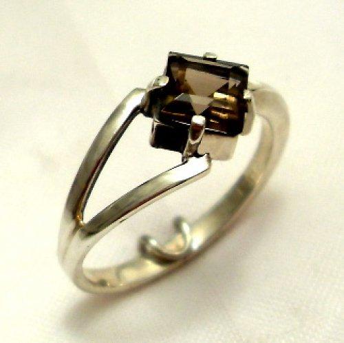 Prsten «Victoria» - stříbro 925, přírodní záhněda