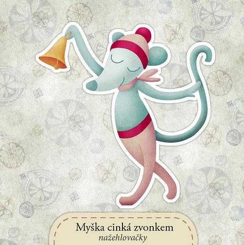 Myška cinká zvonkem - nažehlovačka