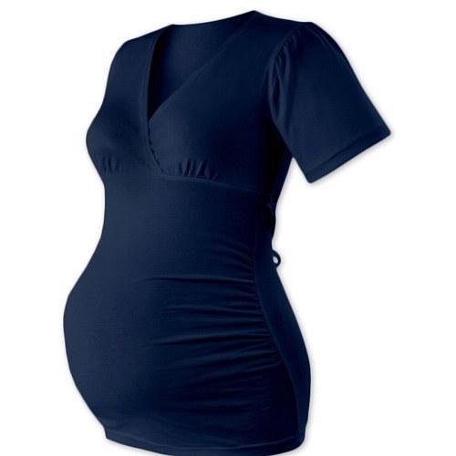 Těhotenská tunika na zavazování jeans